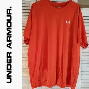 UNDER ARMOUR Red HeatGear Men's Tshirt Size  XXL